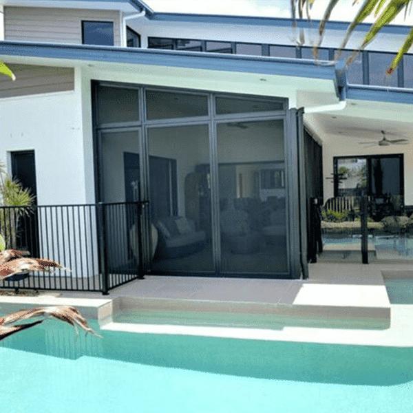 Pool patio enclosure