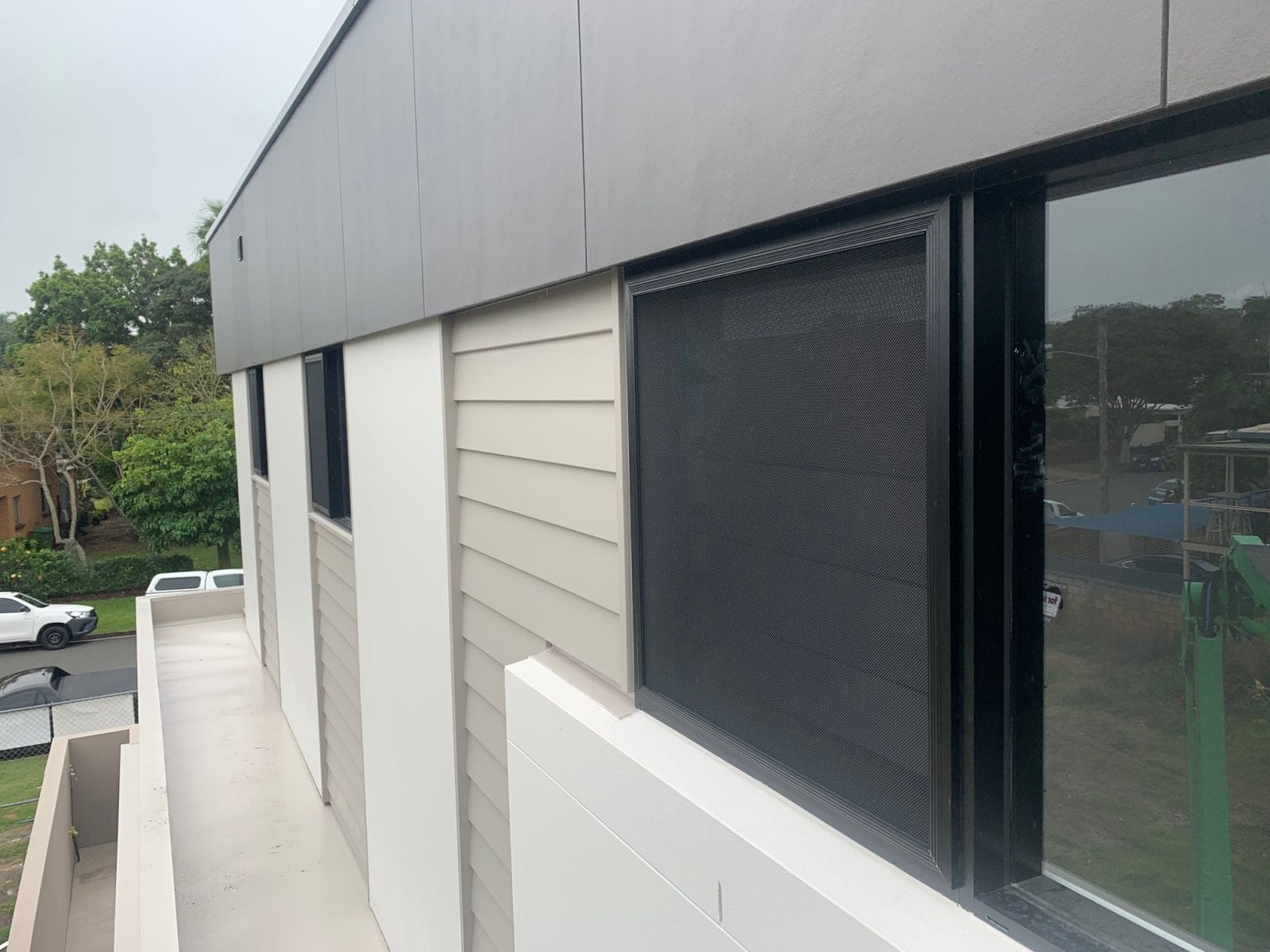 fire system windows with guard